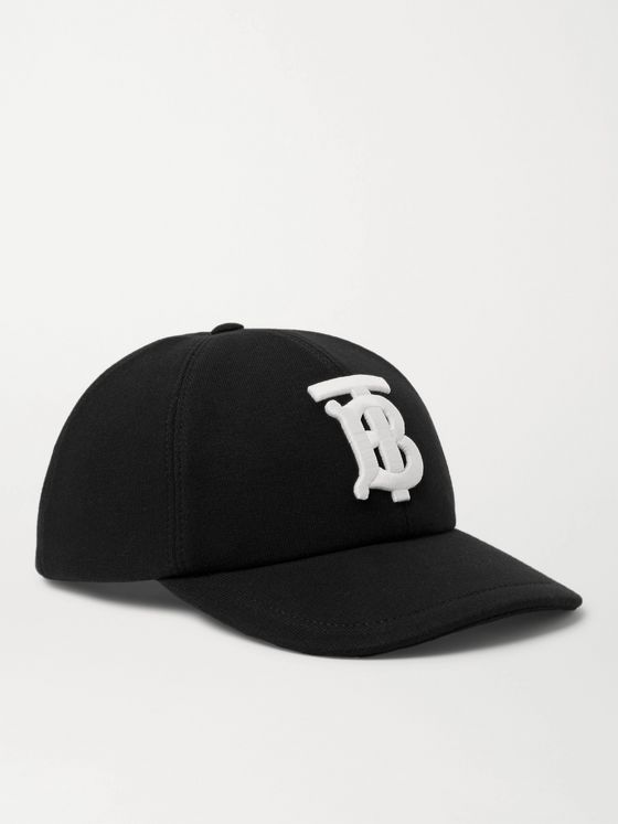 BURBERRY Logo-Embroidered Cotton-Jersey Baseball Cap
