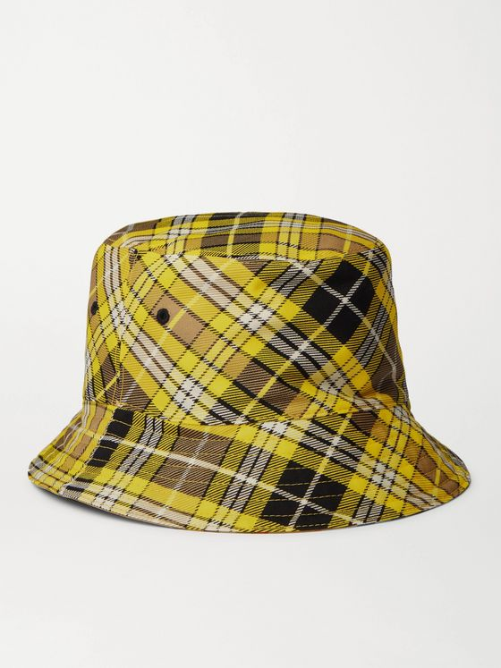 BURBERRY Reversible Checked Wool-Blend Twill Bucket Hat