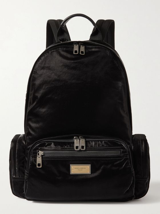 DOLCE & GABBANA Coated-Shell Backpack