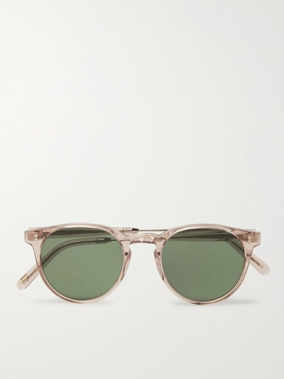 Moscot Golda Sun Round-Frame Acetate and Silver-Tone Sunglasses