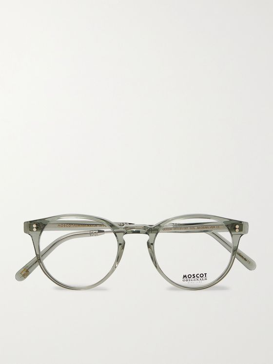 Moscot Golda Round-Frame Acetate and Silver-Tone Optical Glasses