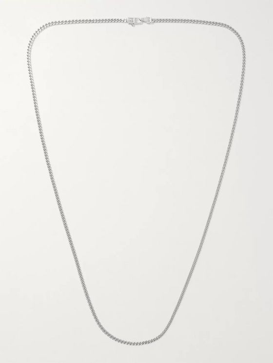 TOM WOOD Rhodium-Plated Necklace