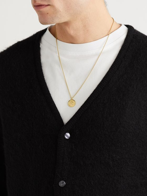 TOM WOOD Coin Gold-Plated Necklace