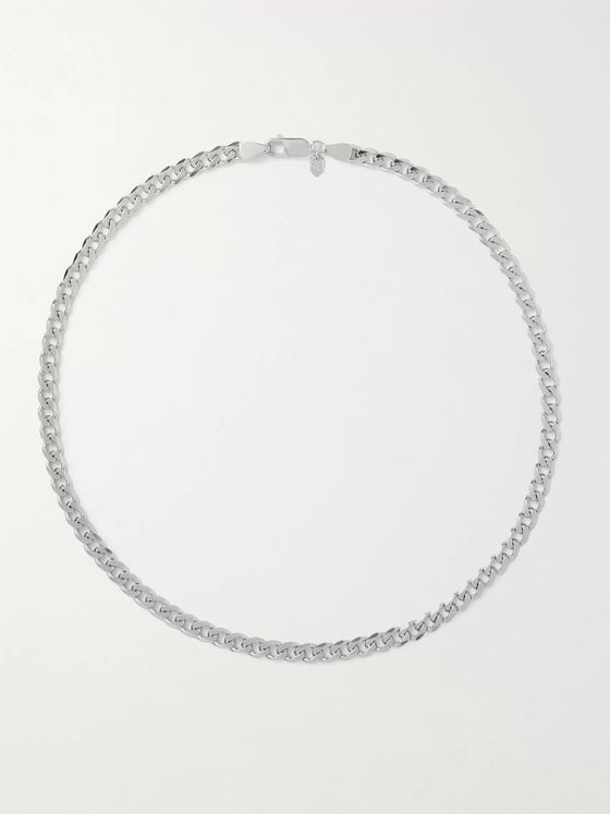 MARIA BLACK Forza Rhodium-Plated Chain Necklace