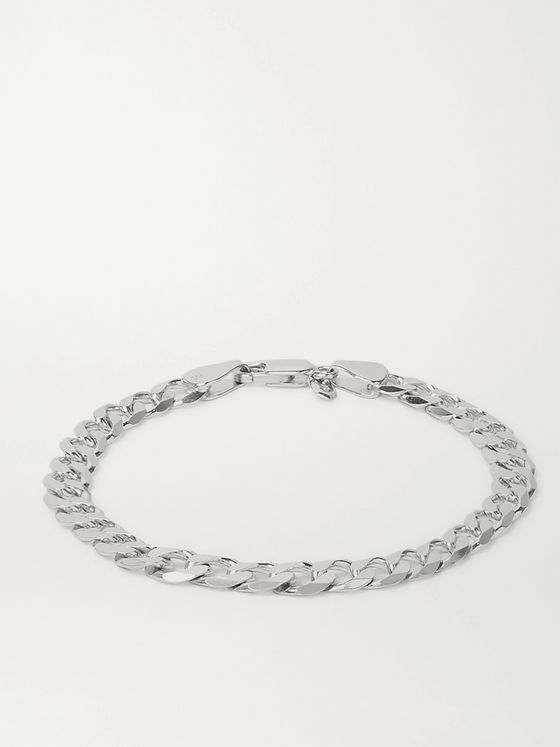 MARIA BLACK Forza Rhodium-Plated Chain Bracelet