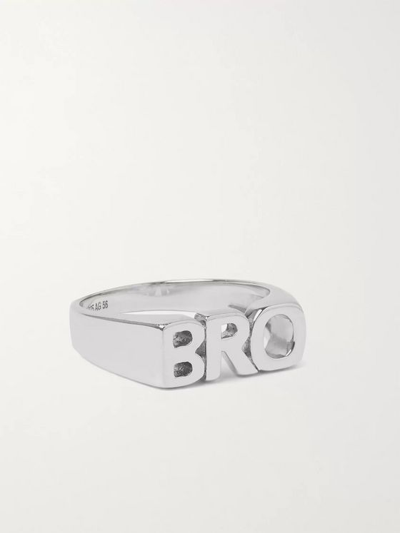 MARIA BLACK Bro Rhodium-Plated Ring