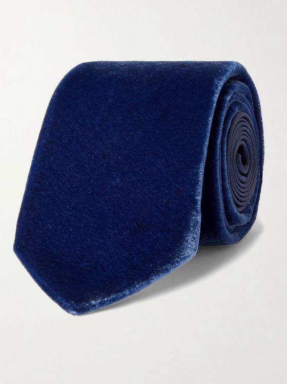 LANVIN 7cm Silk and Velvet Tie