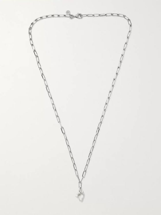 ALICE MADE THIS Bardo Rhodium-Plated Chain Necklace
