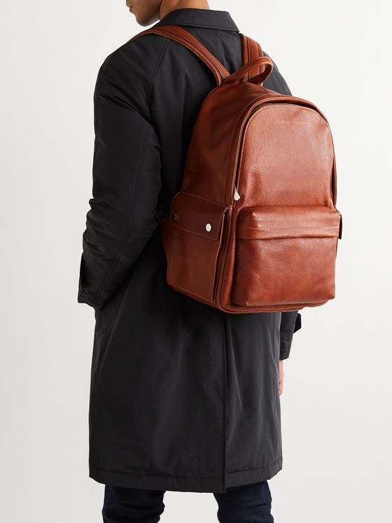 BRUNELLO CUCINELLI Full-Grain Leather Backpack