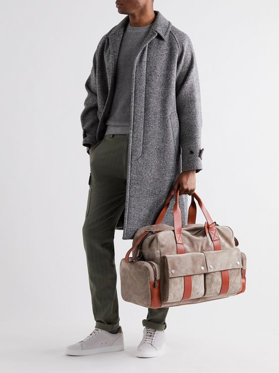 Brunello Cucinelli Leather-Trimmed Suede Holdall