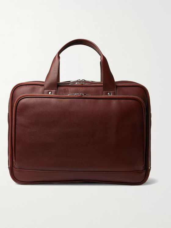 BRUNELLO CUCINELLI Full-Grain Leather Briefcase