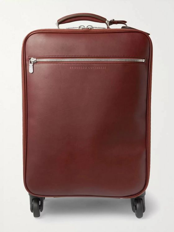 Brunello Cucinelli Leather Carry-On Suitcase