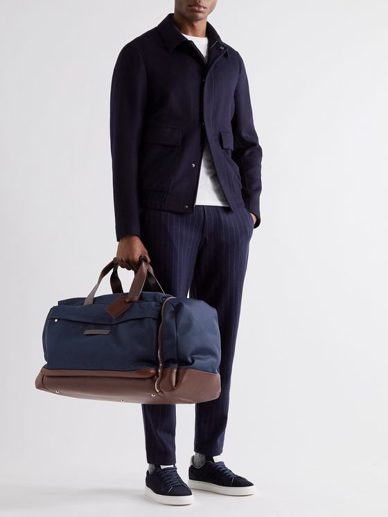 Brunello Cucinelli Leather-Trimmed Nylon Holdall