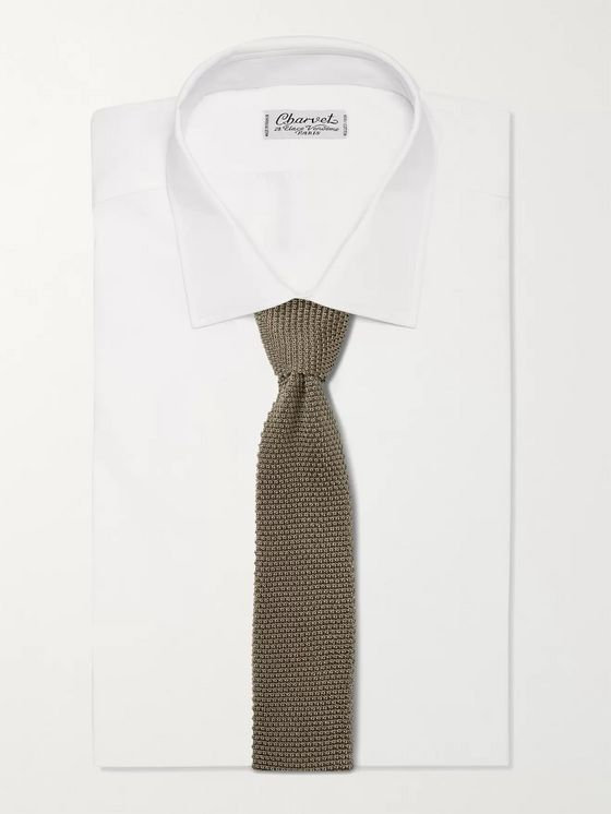 BRUNELLO CUCINELLI 6cm Knitted Silk Tie
