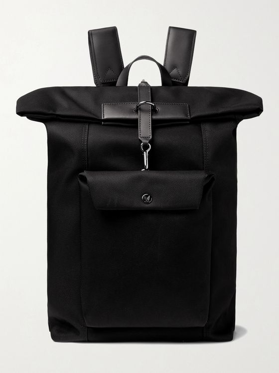 MISMO Leather-Trimmed Nylon Backpack