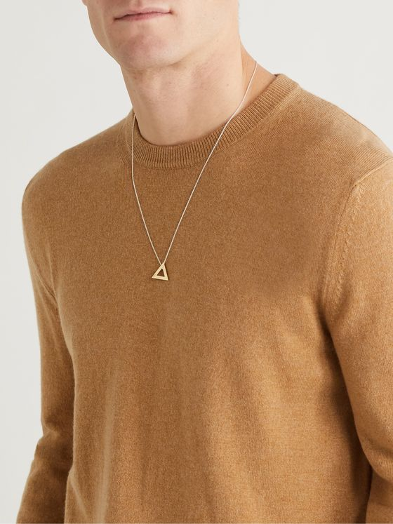 LE GRAMME 18-Karat Gold and Sterling Silver Necklace