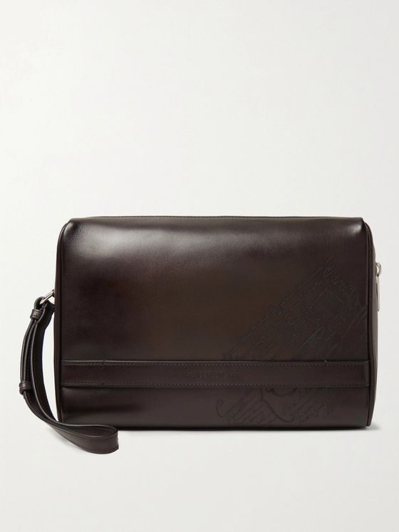 BERLUTI Scritto Leather Wash Bag