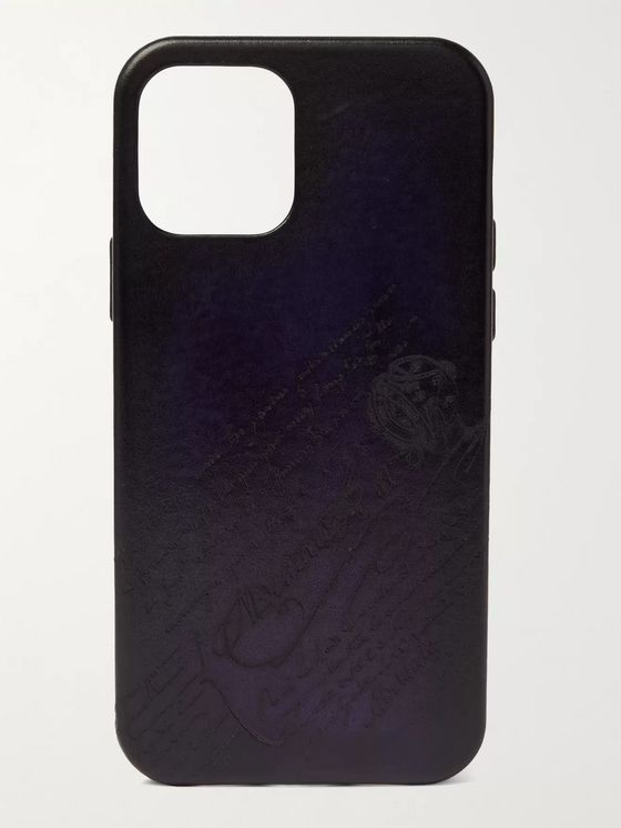 BERLUTI Scritto Leather iPhone 12 Case