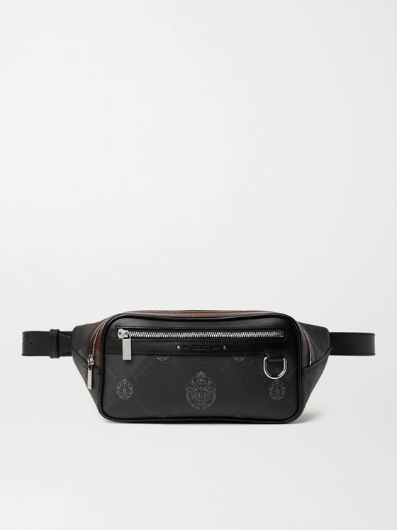 BERLUTI Balade Signature Canvas and Leather Belt Bag