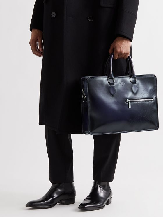 BERLUTI Scritto Venezia Leather Briefcase