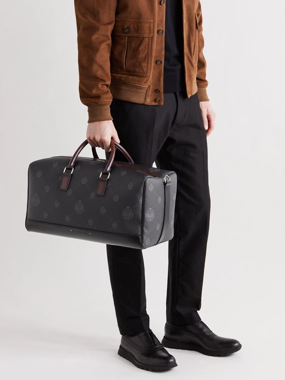BERLUTI Aventure Signature Canvas and Leather Holdall