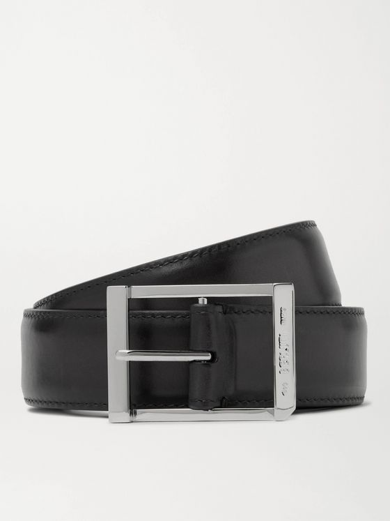 BERLUTI 3.5cm Polished Leather Belt