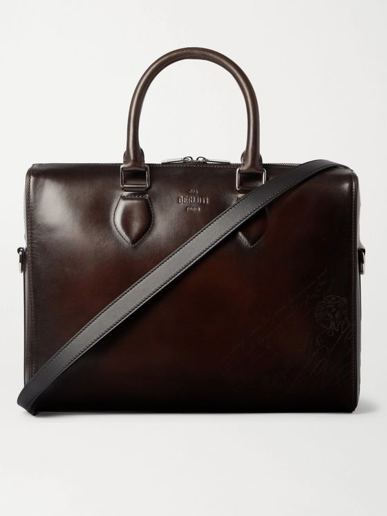 BERLUTI Scritto Leather Briefcase
