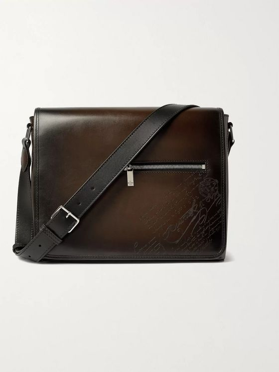 BERLUTI Scritto Leather Messenger Bag