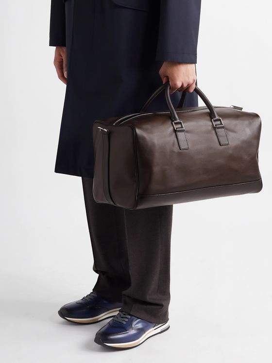 BERLUTI Polished-Leather Weekend Bag
