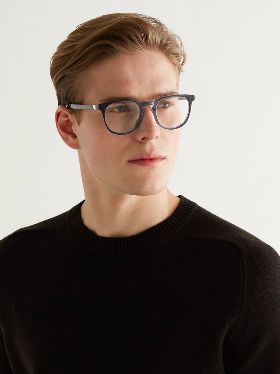 BERLUTI Round-Frame Dégradé Acetate Optical Glasses