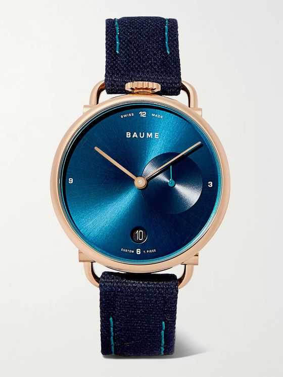 Baume 35mm PVD-Coated Stainless Steel and Cotton-Canvas Watch, Ref. No. 10603