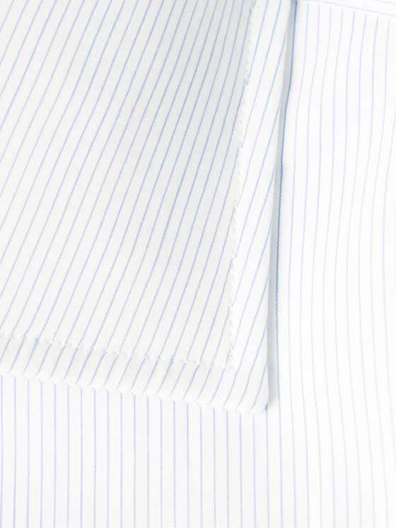 TURNBULL & ASSER Slim-Fit Cutaway-Collar Pinstriped Cotton-Poplin Shirt