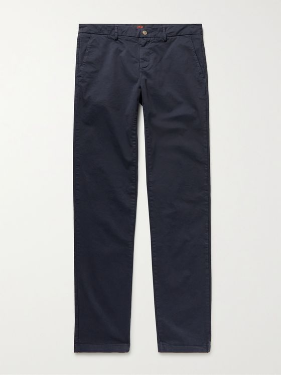 MP MASSIMO PIOMBO Cotton-Twill Chinos