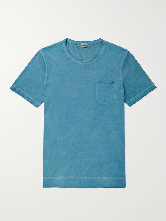 MASSIMO ALBA Panarea Watercolour-Dyed Cotton-Jersey T-Shirt
