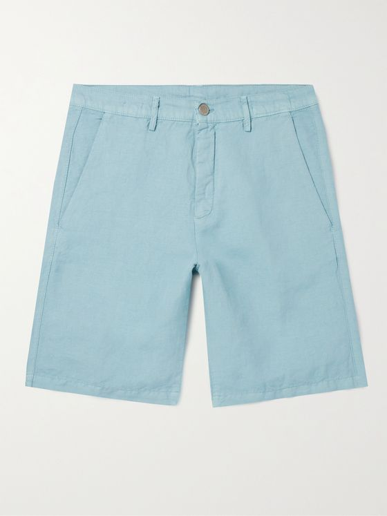 MASSIMO ALBA Linen and Cotton-Blend Shorts