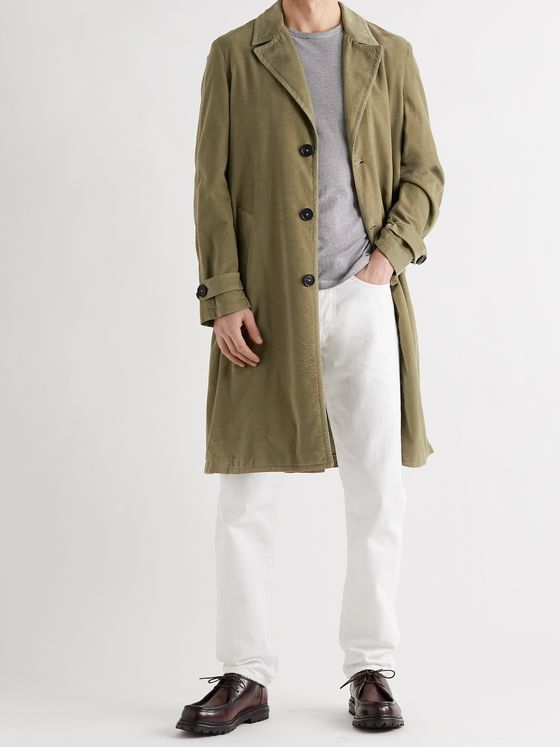 MASSIMO ALBA Cotton-Corduroy Trench Coat