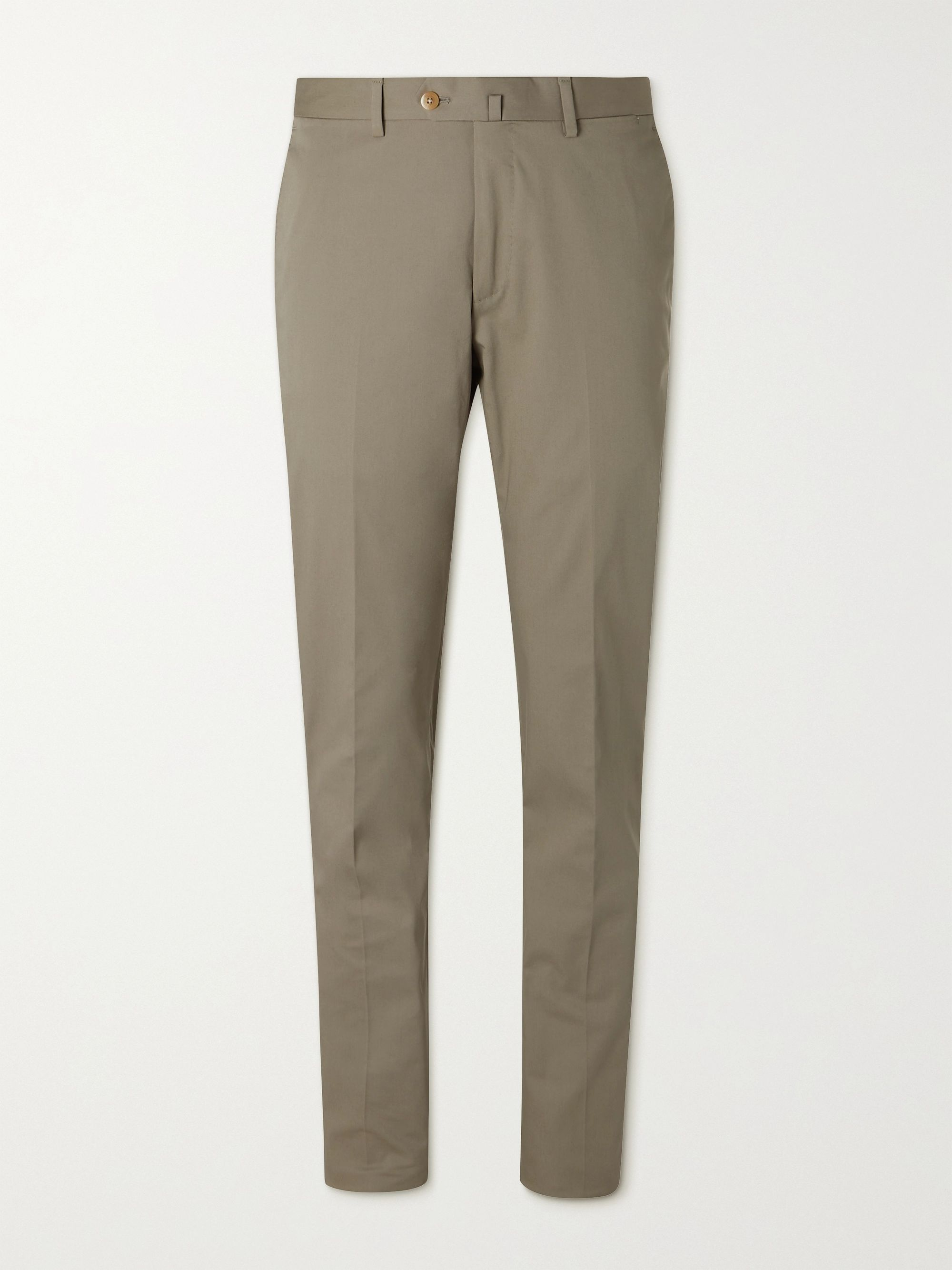 CARUSO Slim-Fit Stretch-Cotton Suit Trousers