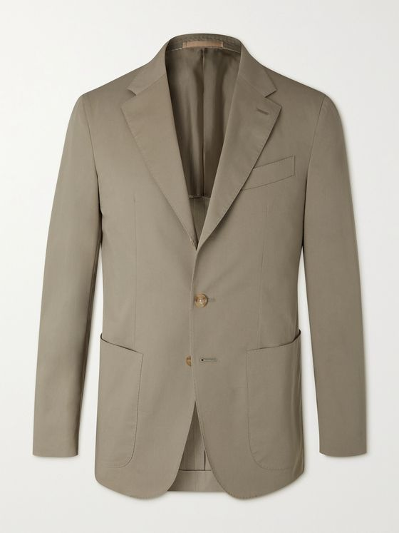 CARUSO Butterfly Unstructured Stretch-Cotton Suit Jacket