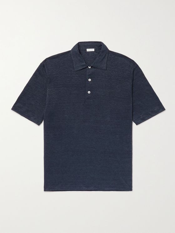 CARUSO Slim-Fit Linen Polo Shirt