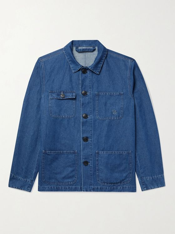 ALTEA Cotton and Linen-Blend Denim Shirt Jacket