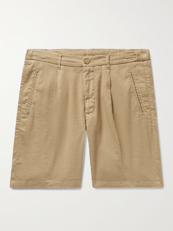 ALTEA Slub Linen and Cotton-Blend Shorts