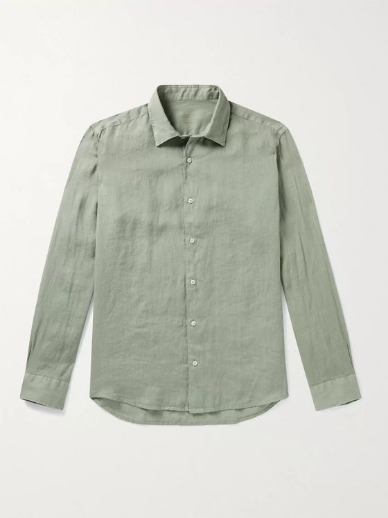 ALTEA Slim-Fit Linen Shirt