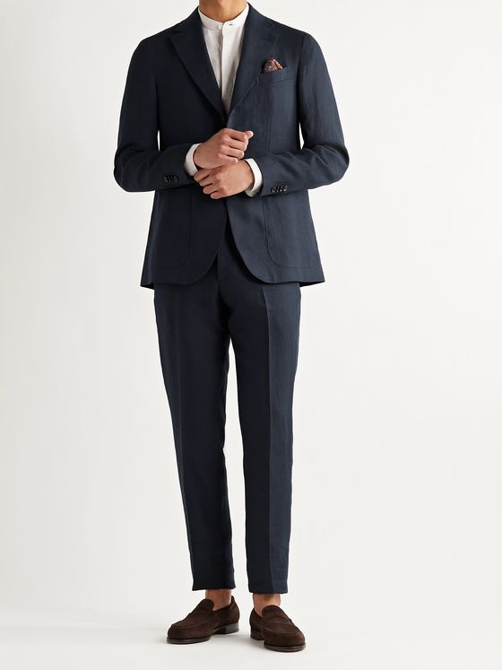 CARUSO Unstructured Linen Suit Jacket