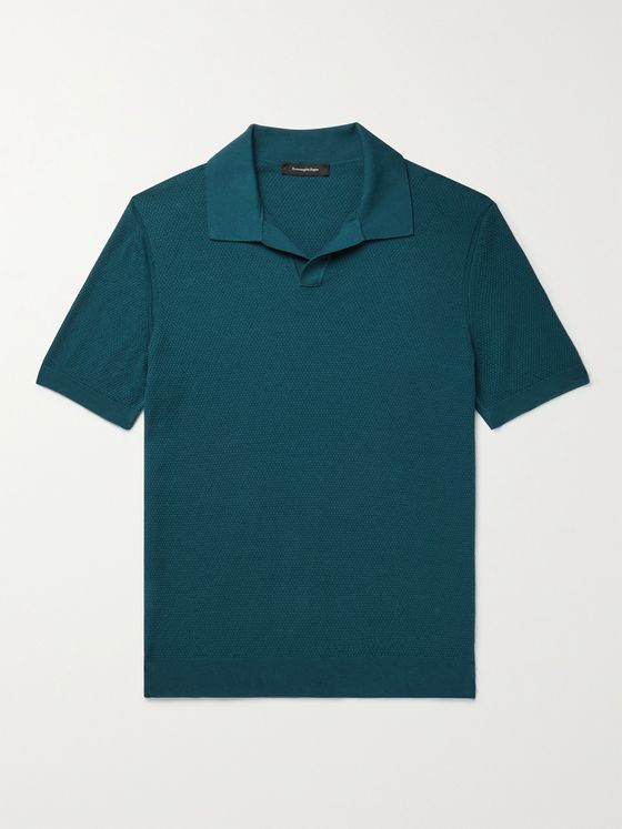 ERMENEGILDO ZEGNA Slim-Fit Cotton Polo Shirt