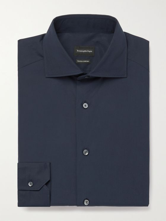 ERMENEGILDO ZEGNA Slim-Fit Cotton Shirt
