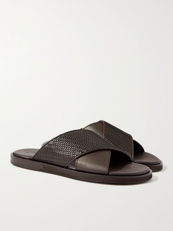 ERMENEGILDO ZEGNA Baleari Woven Leather Sandals