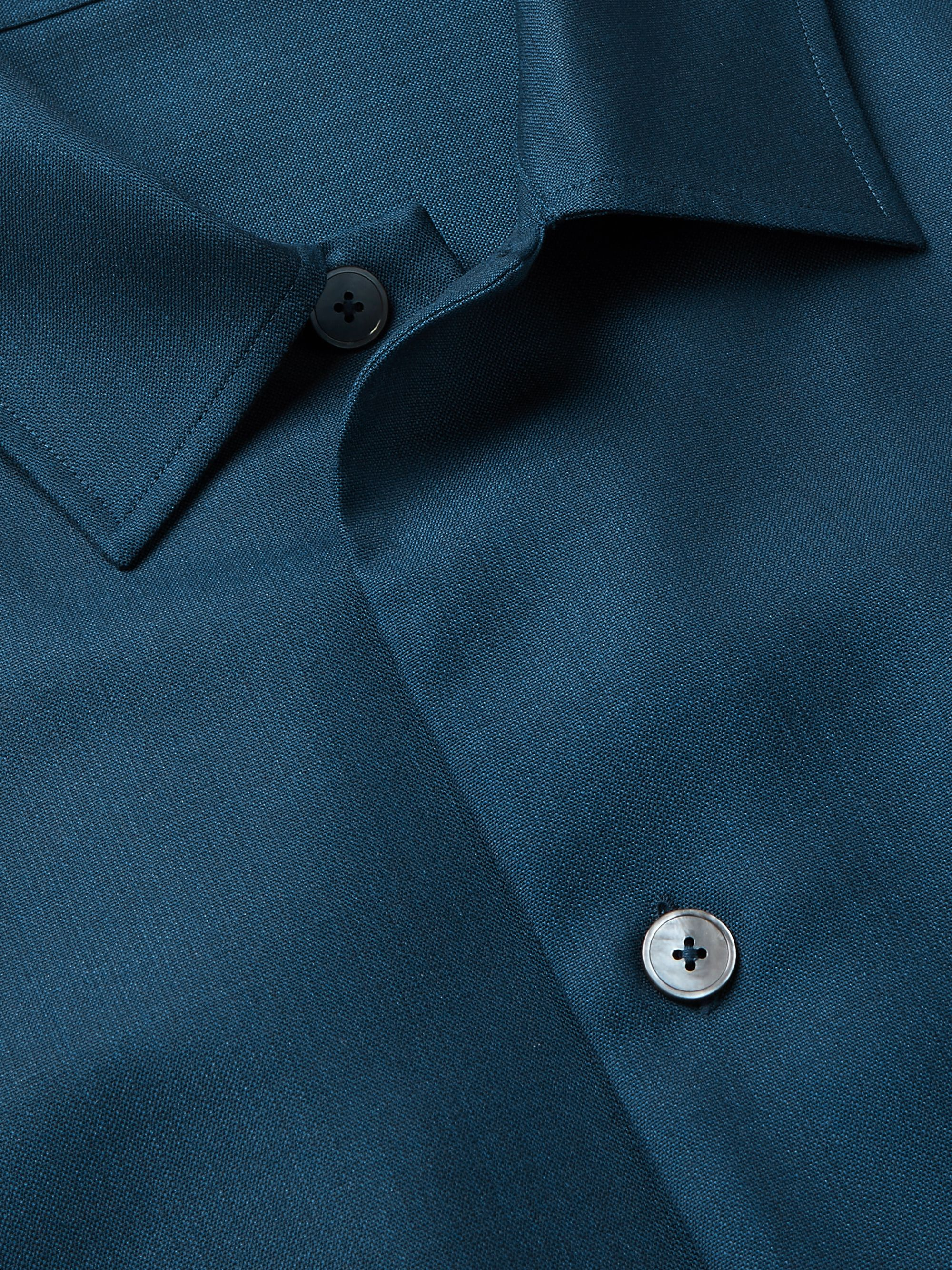 ERMENEGILDO ZEGNA Merino Wool and Silk-Blend Overshirt