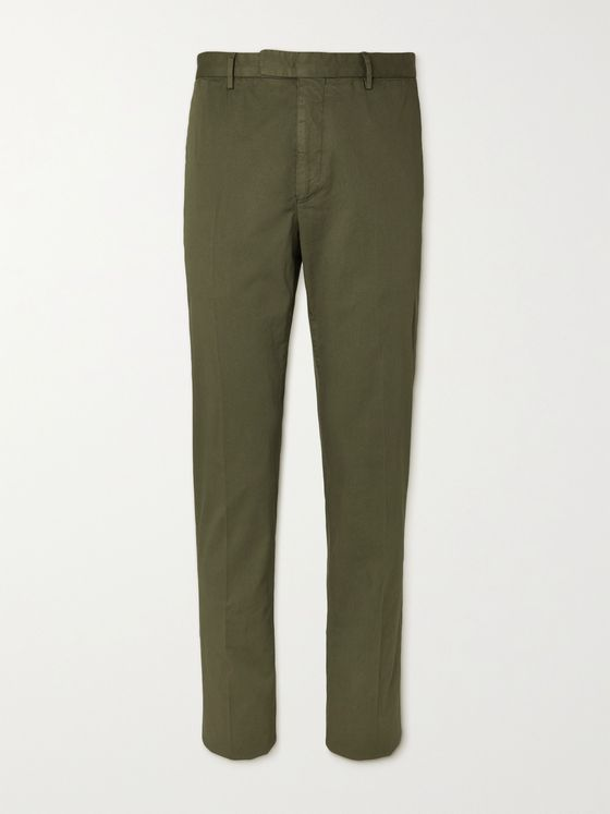 BOGLIOLI Slim-Fit Stretch-Cotton Twill Suit Trousers