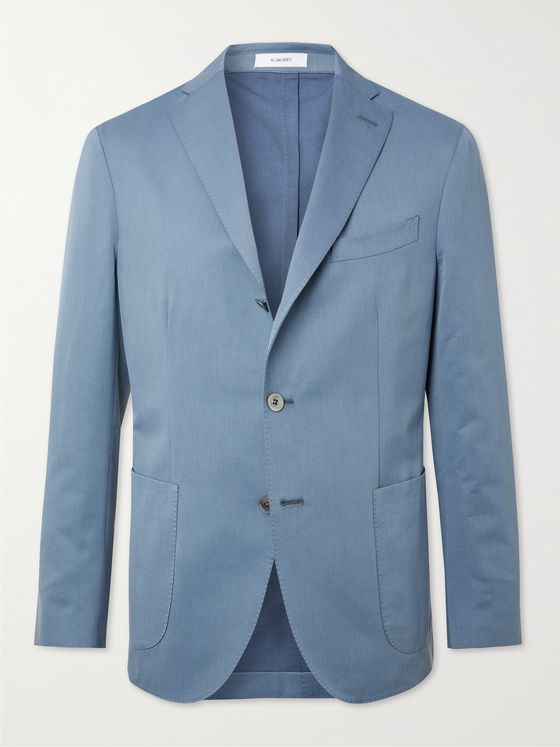 BOGLIOLI Solaro Wool and Cotton-Blend Suit Jacket
