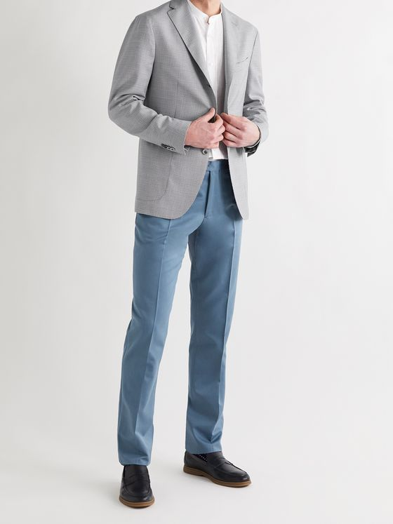 BOGLIOLI Slim-Fit Wool and Cotton-Blend Twill Suit Trousers